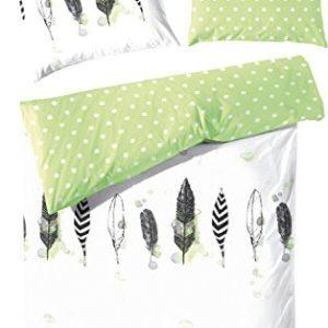 Kuschelige Bettwäsche aus Perkal - grün 135x200 von Hahn