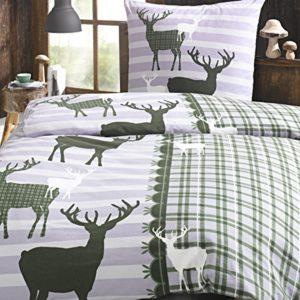 Kuschelige Bettwäsche aus Perkal - grün 155x220 von Trend