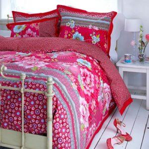 Schöne Bettwäsche aus Perkal - rosa 135x200 von PiP Studio