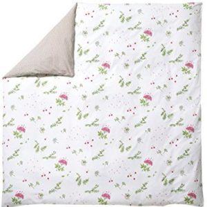 Traumhafte Bettwäsche aus Perkal - rosa 140x200 von Blanc Des Vosges