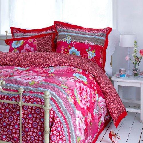 Kuschelige Bettwäsche aus Perkal - rosa 155x220 von PiP Studio