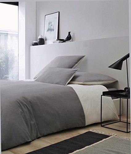 sch ne bettw sche aus perkal rosen grau 155x220 von rose village bettw sche. Black Bedroom Furniture Sets. Home Design Ideas