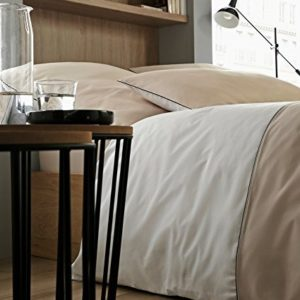 Hübsche Bettwäsche aus Perkal - Rosen weiß 155x220 von Rose Village