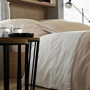 Kuschelige Bettwäsche aus Perkal - Rosen weiß 220x240 von Rose Village