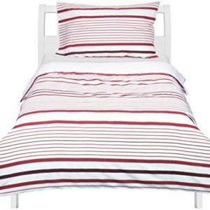 Hübsche Bettwäsche aus Perkal - rot 135x200 von AmazonBasics