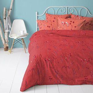 Traumhafte Bettwäsche aus Perkal - rot 135x200 von Cinderella