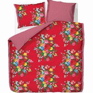 Traumhafte Bettwäsche aus Perkal - rot 155x220 von PiP Studio