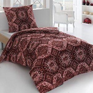 Schöne Bettwäsche aus Perkal - rot 155x220 von saleandmore
