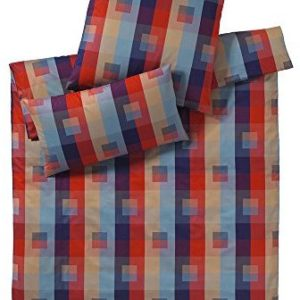 Hübsche Bettwäsche aus Perkal - rot 200x200 von elegante