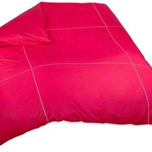 Traumhafte Bettwäsche aus Perkal - rot 220x240 von BLANC CERISE