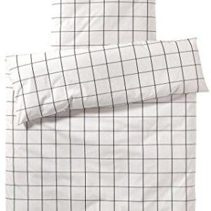 Schöne Bettwäsche aus Perkal - schwarz 220x240 von elegante