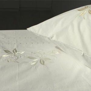 Schöne Bettwäsche aus Perkal - weiß 135x200 von Casalanas