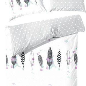 Kuschelige Bettwäsche aus Perkal - weiß 155x220 von Hahn