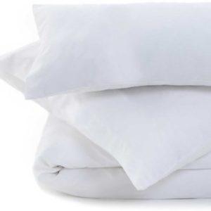 Schöne Bettwäsche aus Perkal - weiß 155x220 von URBANARA