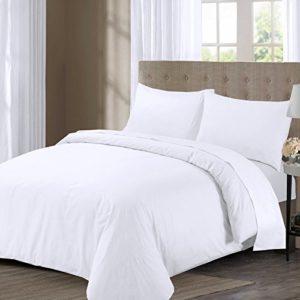 Schöne Bettwäsche aus Perkal - weiß 200x200 von Bemode