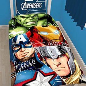 Kuschelige Bettwäsche aus Polyester - 135x200 von Marvel
