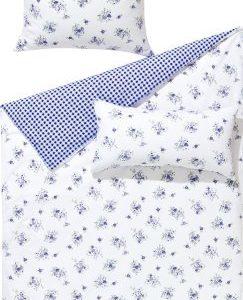 Schöne Bettwäsche aus Polyester - blau 135x200 von