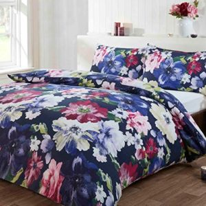 Schöne Bettwäsche aus Polyester - blau 135x200 von Just Contempo