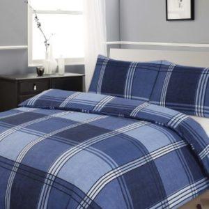 Schöne Bettwäsche aus Polyester - blau 135x200 von Skippys