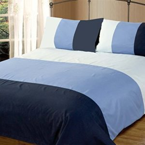 Kuschelige Bettwäsche aus Polyester - blau 135x200 von Skippys