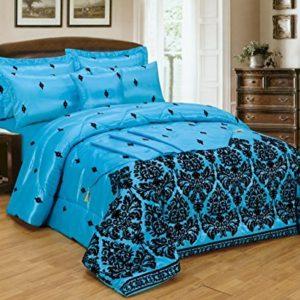 Kuschelige Bettwäsche aus Polyester - blau 200x200 von 5 Pieces