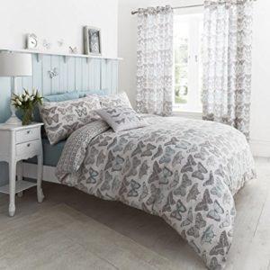 Kuschelige Bettwäsche aus Polyester - blau 200x200 von Dekoria