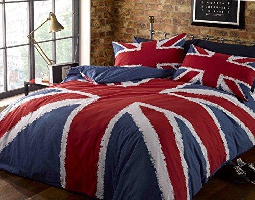 Hübsche Bettwäsche aus Polyester - blau 200x200 von Rock N Roll