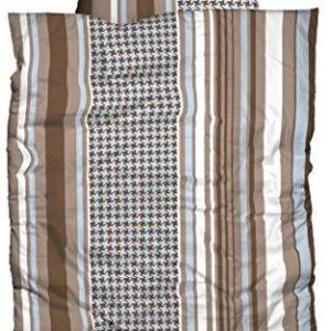Kuschelige Bettwäsche aus Polyester - braun 135x200 von Casatex
