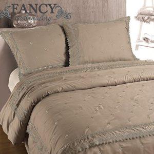 Kuschelige Bettwäsche aus Polyester - braun 200x200 von