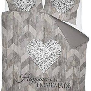 Traumhafte Bettwäsche aus Polyester - braun 200x200 von NIGHTLIFE