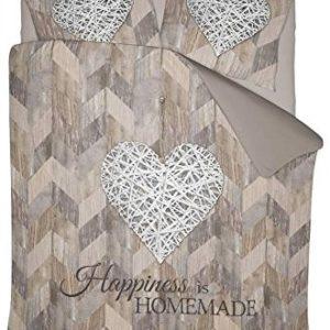 Hübsche Bettwäsche aus Polyester - braun 200x200 von NIGHTLIFE