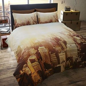 Schöne Bettwäsche aus Polyester - gelb 200x200 von Homespace Direct