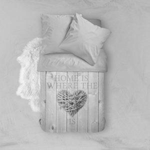 Schöne Bettwäsche aus Polyester - grau 135x200 von NIGHTLIFE