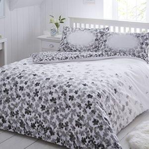 Schöne Bettwäsche aus Polyester - grau 135x200 von Pieridae