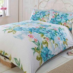 Kuschelige Bettwäsche aus Polyester - grün 200x200 von Just Contempo