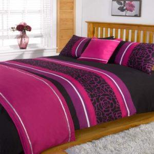 Hübsche Bettwäsche aus Polyester - rosa 135x200 von Dreamscene