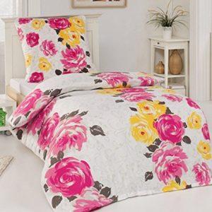 Schöne Bettwäsche aus Polyester - rosa 135x200 von Holiday