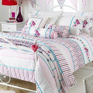 """Traumhafte Bettwäsche aus Polyester - rosa 135x200 von Riva Home """"Designed For Life"""""""
