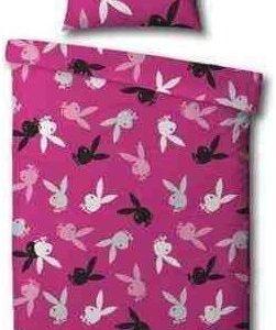 Kuschelige Bettwäsche aus Polyester - rosa von Playboy