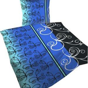 Schöne Bettwäsche aus Polyester - schwarz 135x200