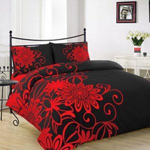 Hübsche Bettwäsche aus Polyester - schwarz 200x200 von A&R