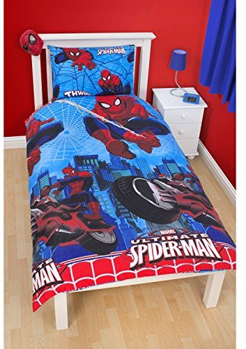 kuschelige bettw sche aus polyester spiderman blau 135x200 von marvel bettw sche. Black Bedroom Furniture Sets. Home Design Ideas