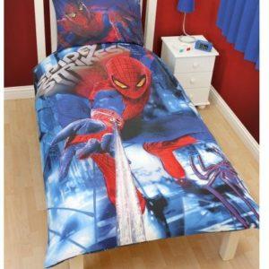 Kuschelige Bettwäsche aus Polyester - Spiderman blau 135x200 von Spiderman