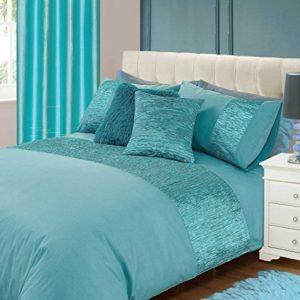 Kuschelige Bettwäsche aus Polyester - türkis 135x200 von Skippys