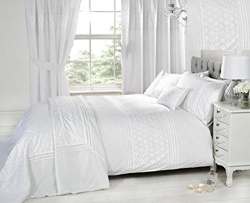 Hübsche Bettwäsche aus Polyester - weiß 200x200 von Homespace Direct