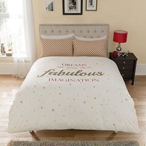 Schöne Bettwäsche aus Polyester - weiß 200x200 von IK Trading
