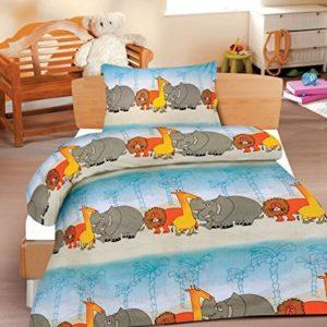 Traumhafte Bettwäsche aus Renforcé - blau 100x135