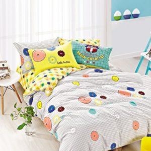 Kuschelige Bettwäsche aus Renforcé - blau 135x200 von DecoKing