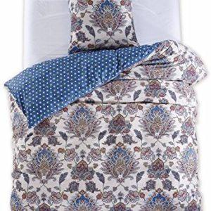 Schöne Bettwäsche aus Renforcé - blau 135x200 von DecoKing