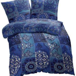 Hübsche Bettwäsche aus Renforcé - blau 135x200 von Etérea
